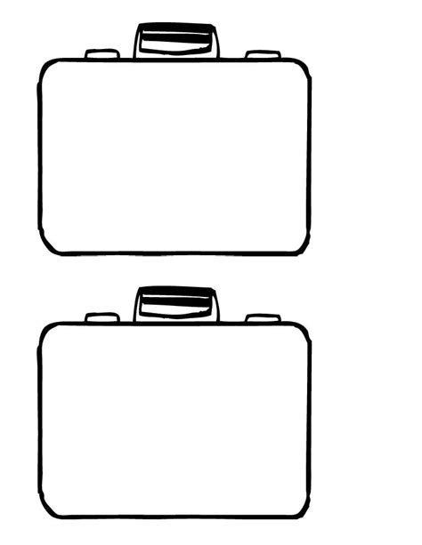 blank suitcase template suitcase outline clipart best