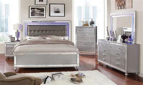 4 Piece Brachium Modern Led Bedroom Set Usa Warehouse Led Bedroom Furniture