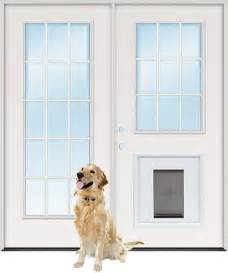 Patio Door With Doggie Door Cheap 6 0 Quot 15 Lite 9 Lite Steel Patio Prehung Door Unit With Pet Door Insert