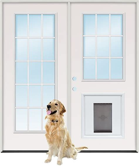 Pet Door Insert by Discount 15 Lite 9 Lite Steel Patio Prehung Door