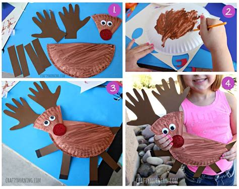 How To Make Paper Reindeer - how to make a paper plate reindeer pictures photos and