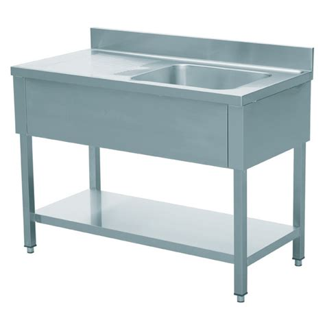 stainless steel restaurant sink eq commercial stainless steel sink 1 bowl on right 56