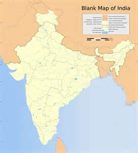 Outline Map Of India by File India Map Blank Svg