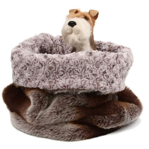 cuddle cup dog bed susan lanci cuddle cup dog bed in platinum chinchilla