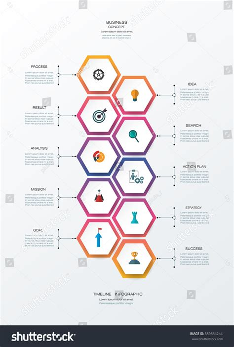 How To Make A 3d Timeline On Paper - vector infographics timeline design template 3d stock