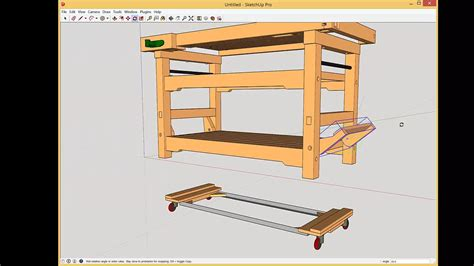 work bench on wheels workbench with drop casters update on cam lever detail