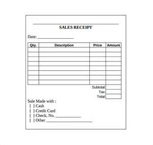 Receipt Template Free Printable by Sales Receipt Template 10 Free Documents In