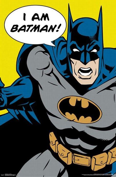imagenes batman retro details about batman art poster i am batman 22x34 dc