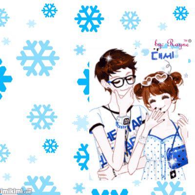 gambar wallpaper couple bergerak cartoon korean couple