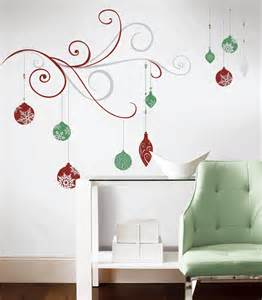 Holiday Wall Stickers Rmk2469gm Holiday Scroll Giant Wall Stickers With Glitter