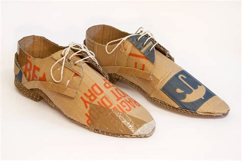 Paper Shoes - cardboard shoes fragile do not drop keep