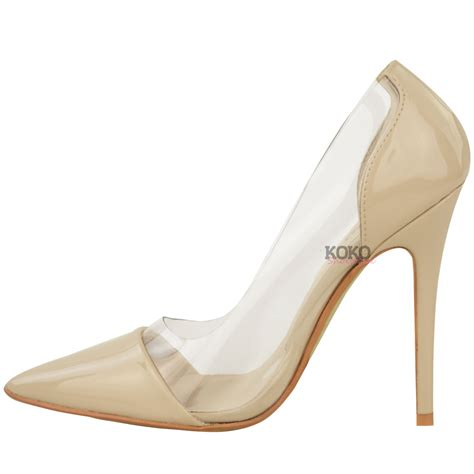 clear sandals heels womens perspex clear stiletto high heel sandals