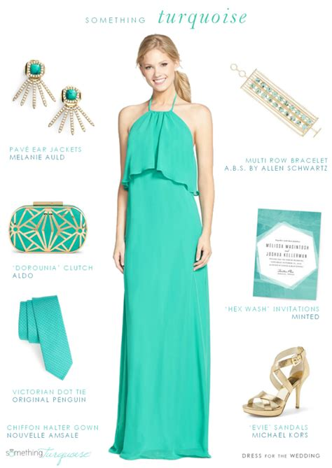 turquoise wedding style ideas dress for the wedding