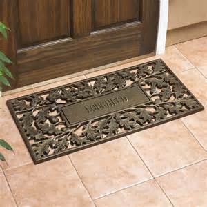 whitehall products 1341 oakleaf door mat with personalized