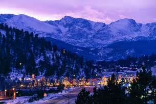 winter lights of estes park frank photography inc