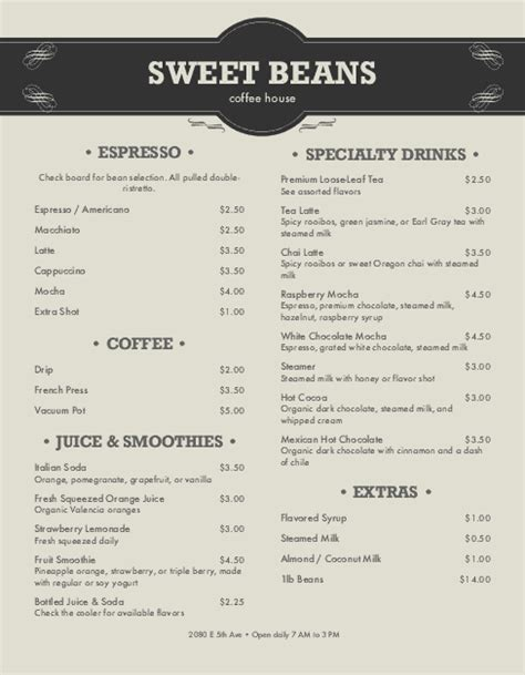 design a coffee shop menu layout from scratch with photoshop and indesign coffee shop menu letter coffee house menus
