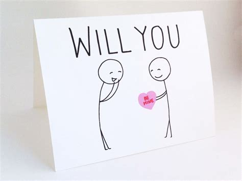 will you be my ideas for him card valentines day for him