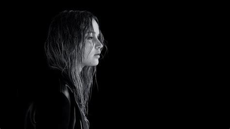 jennifer lawrence dark monochrome women actress face