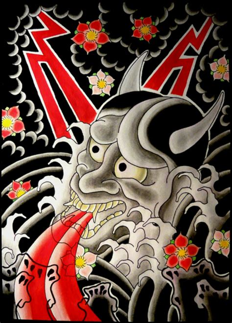 hannya mask by xlennyx on deviantart