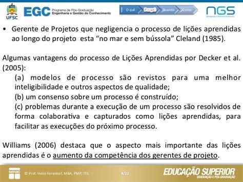 Did Lie About His Mba Snope by Li 231 245 Es Aprendidas Agregando Valor Ao Gerenciamento De Projetos