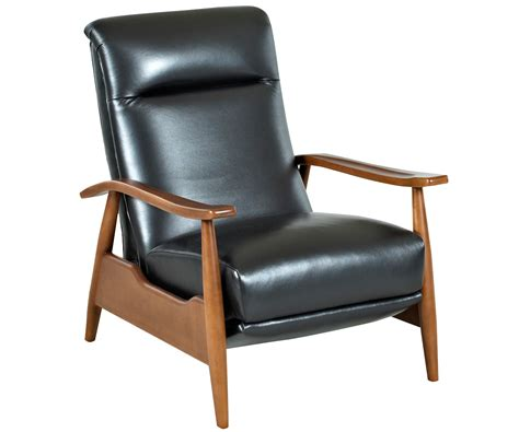 reclining leather club chair mid century leather reclining club chair