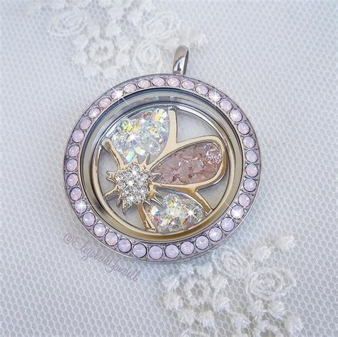 Origami Owl Plate - origami owl locket w floating flower plate o2