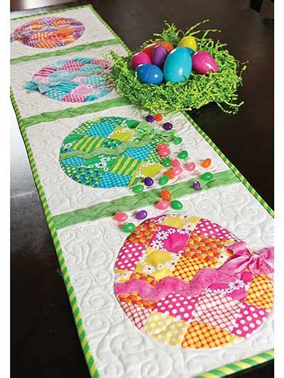 quilted easter table topper table runner by