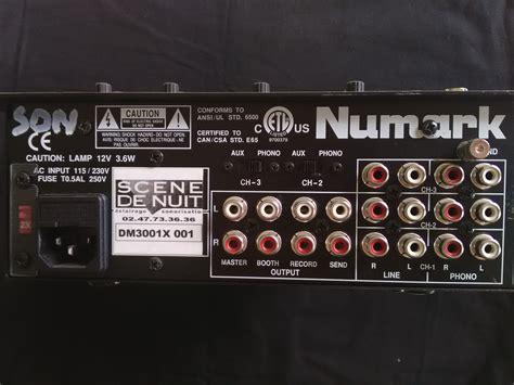 console dj numark dm3001x numark dm3001x audiofanzine