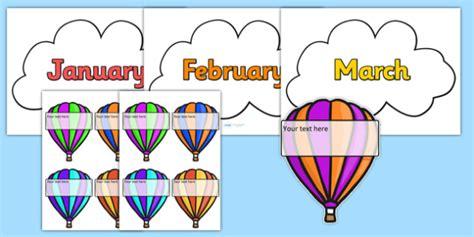 Editable hot air balloon birthday display birthday birthday