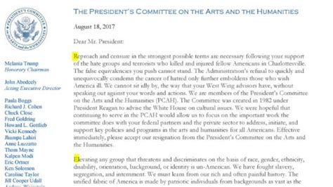 Resignation Letter Arts Council the message in us arts council s mass resignation