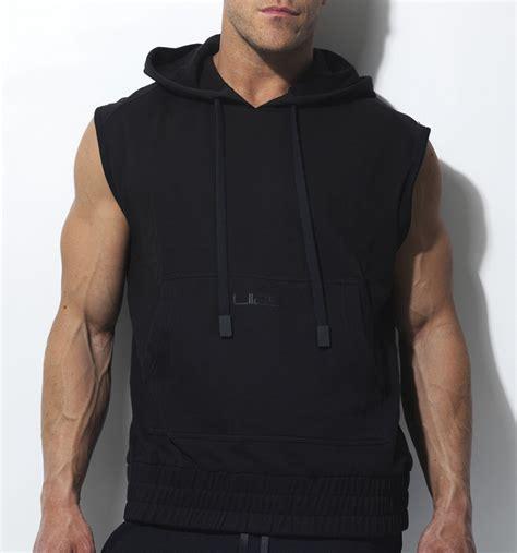Hoodie Armour Hitam sleeveless hoodie liias
