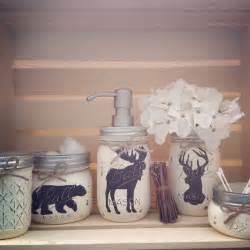 wildlife bathroom decor jar bathroom set rustic animals woodland animals