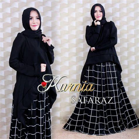 Baju Muslim Wanita New Makuta 2 Black Navy Murah Grosir Casual safaraz black baju muslim gamis modern