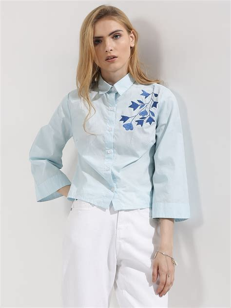 Sleeve Embroidered Shirt buy koovs bell sleeve embroidered shirt for