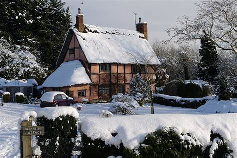snowy cottage this is a real cottage and home