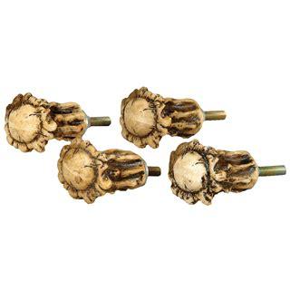 Antler Cabinet Knobs by Rustic Hardware Set Of 4 Antler Crown Cabinet Knobs Black