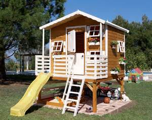 wood outdoor playhouses for girls and boys from green
