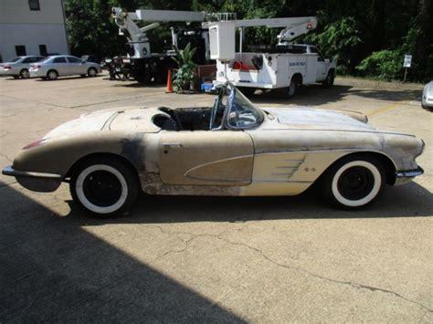 auto body repair training 1958 chevrolet corvette transmission control 1958 corvette barn find project car no motor or trans resto mod