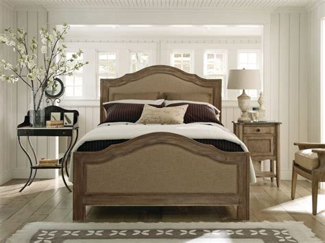 natural wood bedroom sets schnadig cobblestone upholstered natural wood bed