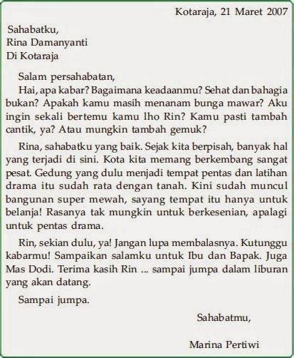 Contoh Pendek Surat Pelelangan Bahasa Indonesia by 15 Contoh Surat Pribadi Untuk Teman Sahabat Keluarga