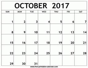 Calendar October 2017 Printable With Lines October 2017 Calendar With Holidays Printable Printable