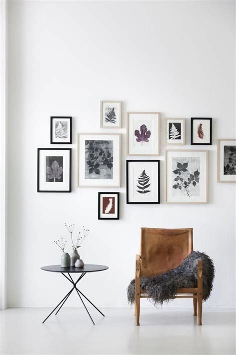 printable art gallery wall picture of botanical gallery wall