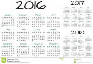 Ecuador Calendã 2018 Calendar 2016 2017 2018 Vector Stock Vector