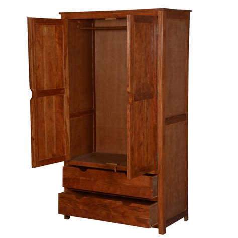 Wood Armoire Wardrobe by Santa Fe Acacia Wood Wardrobe Armoire Cabinet