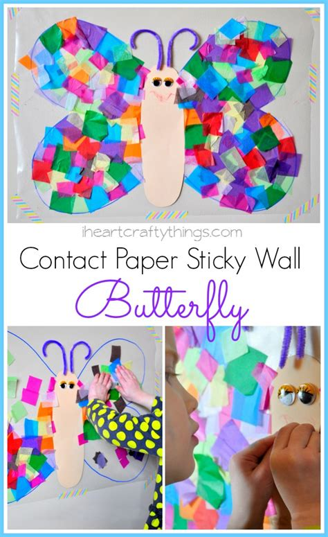 contact paper crafts i crafty things contact paper sticky wall butterfly
