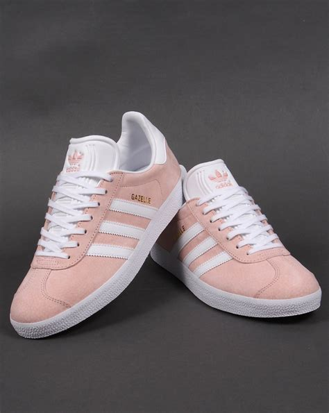 all light pink adidas adidas gazelle trainers vapour pink white originals shoes