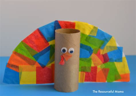 Toilet Paper Turkey Craft - toilet paper roll turkey kid craft the resourceful