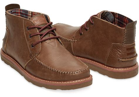 mens chukka boots with toms chocolate leather s chukka boots in brown for