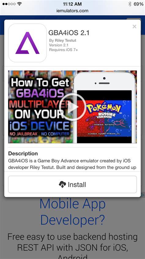 gameboy emulator  iphone    jailbreak required
