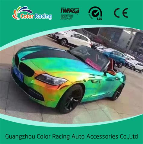 holographic car holographic car vinyl wrap holographic rainbow foil